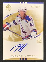 2007-08 SP AUTHENTIC MARC STAAL ROOKIE FUTURE WATCH AUTO #ed 521/999