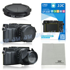3in1 Auto Lens Cap+Screen Protector+Cleaning Cloth for Panasonic Lumix DMC-LX100