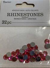 Darice Adhesive Back 7mm Pink Round Rhinestones 32 Pc