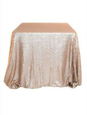 2016 Sparkly 120*180 Champagne  Sequin Tablecloth for Wedding/Event/Party