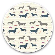2 x Vinyl Stickers 30cm - Dachshund Pattern Dog Puppy Pet  #44826