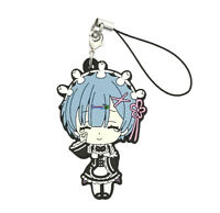 Re: Zero Anime Cute Mascot Rubber PVC Keychain Charm~ Smile and Tears Rem @71094