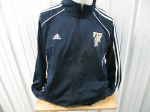 VINTAGE ADIDAS FLORIDA INTERNATIONAL UNIVERSITY PANTHERS SEWN LARGE TRACK JACKET