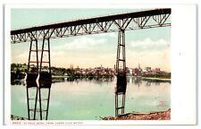Pre-1904/05 St. Paul, Mn Skyline from Under the *First* High Bridge Postcard