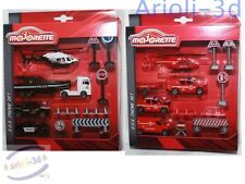 Majorette SOS Theme playset Diecast Police Fire Brigade cars trucks copters NEW