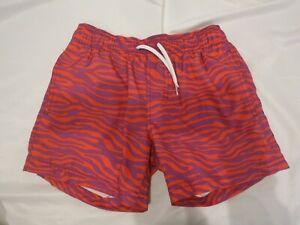 SUNDEK orange and purple zebra print bathing suit short size 10