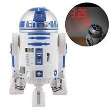 Star Wars R2D2 SFX LCD Projection Alarm Clock New