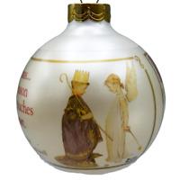 Christmas Pageant Norman Rockwell Christmas Ornament Glass Ball 1988 Hallmark