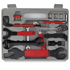 44PC Bike Tool Kit Maintenance Box Gray Repair Wrench Cycling Set New
