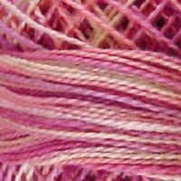 Valdani Perle Cotton Size 12 Embroidery Thread Delicate Rose Variegated V107