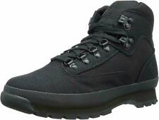 Men's Timberland Euro Hiker Mid Hiking Boot Black Canvas A15RX