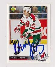92/93 Upper Deck Valeri Zelepukin New Jersey Devils Autographed Hockey Card