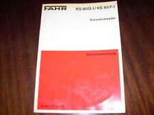 Betriebsanleitung Fahr Kreiselschwader KS 80 D-I / 80 F