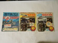 LOT OF 3 J.C. WHITNEY   CO. MOTORCYCLE PARTS CATALOGS,1980S HELMETS,FENDERS,PIST