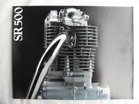 Yamaha SR500 Sales Brochure, Original NOS