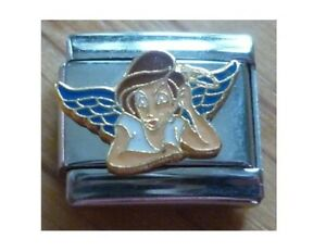 9mm Italian Charms  E32 Teenager Teen Angel Girl Thinking Fits Classic Size