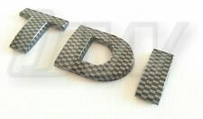 CARBON FIBRE VW TDI BADGE REAR HATCH GOLF TDI GTD TRANSPORTER T4 T5 CAMPER POLO