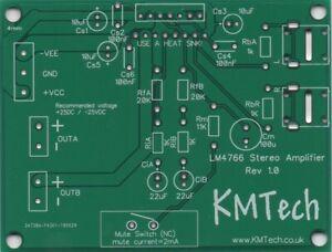 LM4766 Overture HiFi Stereo Amp chipamp gainclone. 2 x 40W PCB DIY