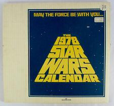 Vintage MINT IN BOX 1978 Star Wars Calendar 1977 Movie Photos Poster DARTH VADER