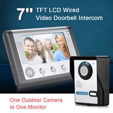 "IR Monitor 7"" LCD Funk Verdrahtet Video Kamera Türsprechanlage Gegensprechanlage"