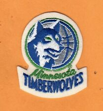 OLD LOGO MINNESOTA TIMBERWOLVES 2 3/4 inch PATCH Unsold Unused Stock IRON ON
