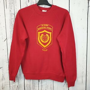 VINTAGE GENUINE US ARMY RED SWEATSHIRT 32nd Guards Motorized Rifle Rgt by LEE M