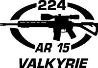 224 VALKYRIE AR 15 gun Rifle Ammunition Bullet exterior oval decal sticker car