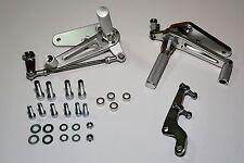 TEC Alloy Adjustable Rearset Footrest Kit & Fittings Triumph Bonneville 2000-15