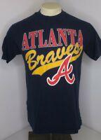 VTG 90s Atlanta Braves Navy Blue T-Shirt MLB baseball 1993 Mens Sz M