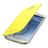 GENUINE Samsung Galaxy S3 i9300 Flip Cover Case Yellow - EFC-1G6FYECSTD