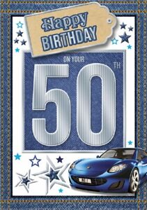 50 Today Happy Birthday Car Card For Age 50 Male