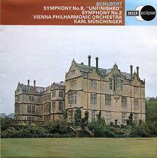 ECS 761 Schubert Symphony 2 & 8 Unfinished Munchinger DECCA NM/EX