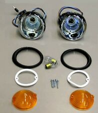 New! 1964 - 1965 Mustang Parking Light Lamp Lights Pair with Lenses and Gaskets