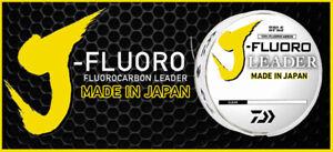 Daiwa J-Fluoro Leader 100% Flurocarbon Fishing Line 50 yd Spool - Choose Lb