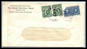 1942 PANAMA Censor Cover - Chase National Bank, Colon T11
