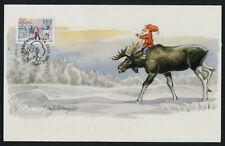 Aland 229 on FD Card - Christmas, Elf on Moose, Windmill