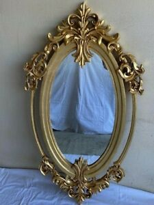 FRENCH OVAL BAROQUE VINTAGE WALL MIRROR