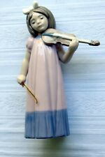 Nao by Lladro Girl With Violin #1034 1987 Porcelain Figurine (Vintage)