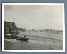 Malta, Scene from the Harbor  Vintage silver print.  Tirage argentique  8x10
