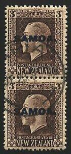 SAMOA 1916-19 GV 3d 2 perf pair fine used SG140b...........................23876
