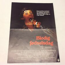 Happy Birthday to Me Glenn Ford Sue Anderson Vtg 1981 Danish Movie Press Release
