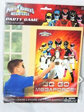 POWER RANGERS -HALLMARK PLASTIC PARTY GAME FOR 2-8 PLAYERS