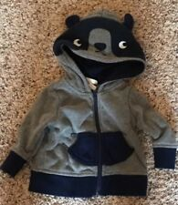 Cat & Jack Boys Newborn Hooded Jacket Bear Ears Gray Navy Blue Baby Infant