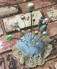 Vintage Hat Pins Job Lot 25 Pearl Bobbles Teapot Tomato Venetian Glass Hatpins