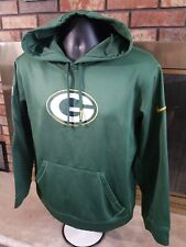 Nike Therma Fit GREEN BAY PACKERS NFL Football Hooded SWEATSHIRT Mens Sz Medium
