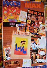 PETER MAX POSTER-PARK WEST COLLAGE-FACSIMILE SIGNED