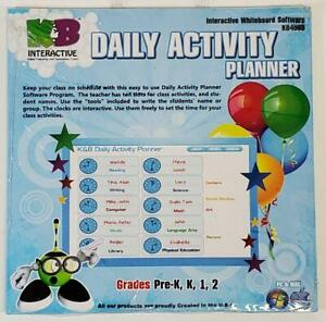 Interactive Whiteboard Software Daily Activity Planner K&B NEW 2011 for PC & MAC