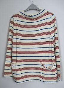 Seasalt Oceangoing Stripe Sweatshirt, Gwennol Dahlia Cargo  Size 8 - 18