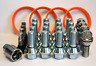 WOBBLE WHEEL BOLT CONVERSION KIT FIT BMW WHEELS TO VIVARO + RINGS VALVE & LOCKS