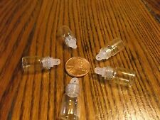 LOT OF 15 EMPTY MINI GLASS BOTTLE/VIAL PENDANT-CHARM - NECKLACE